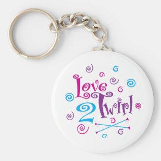 Love 2 Twirl Keychain