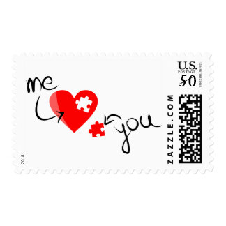 love-349631  RED PUZZLE HEART ME YOU MISSING YOU S Postage