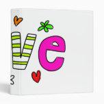 Love 3 Ring Binder