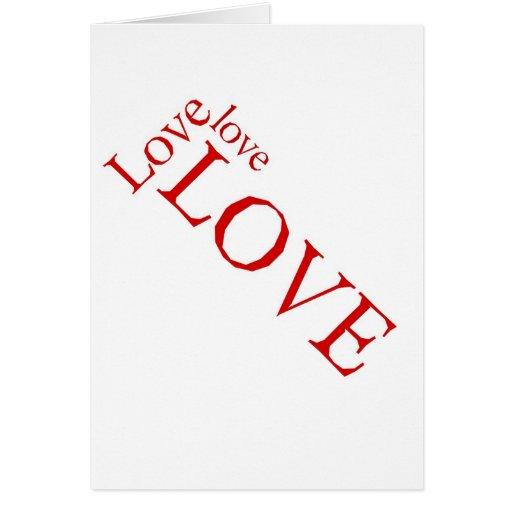 Love 3X Greeting Card