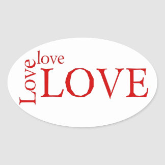Love 3X Oval Sticker