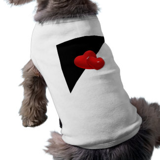 love-489522 Black white triangle red hearts backgr T-Shirt