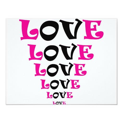 ** LOVE ** 4.25X5.5 PAPER INVITATION CARD