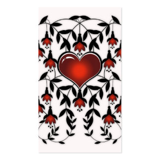 Love 4 :: Grunge Abstract Heart Business Card