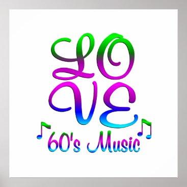 Art Themed LOVE 60's Music Poster