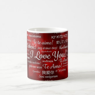 love-615307 ROYAL RED LOVE DIFFERENT LANGUAGES TYP Coffee Mug