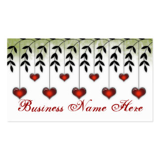 Love 6:: Grunge Abstract Heart Business Card