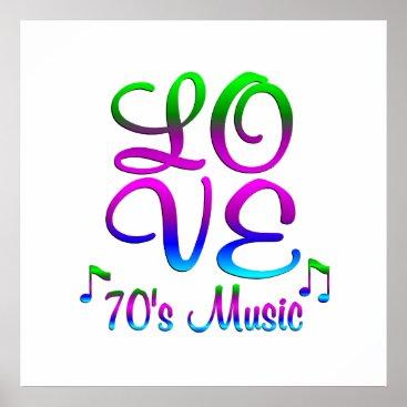 Art Themed LOVE 70's Music Poster