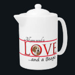 "Love a Beagle Teapot<br><div class=""desc"">This teapot is a great gift for any Beagle lover. Combine it with our matching mugs,  coasters and a tray for a complete set.</div>"