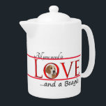 """Love a Beagle Teapot<br><div class=""""desc"""">This teapot is a great gift for any Beagle lover. Combine it with our matching mugs,  coasters and a tray for a complete set.</div>"""