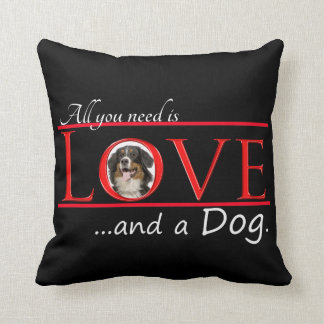 Love a Bernese Mt. Dog Pillow