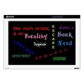 "Love a book nerd skin for 17"" laptop"