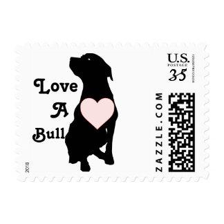 Love A Bull Pitbull Postage