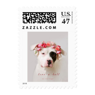 Love-a-bull white Pit Bull Postage