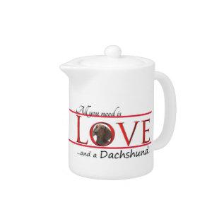 Love A Dachshund Teapot at Zazzle