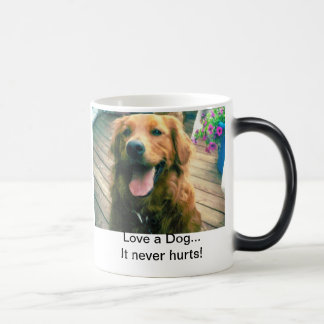 Love a Dog...It never hurts Magic Mug
