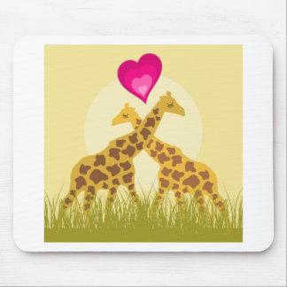 Love a giraffe mouse pad