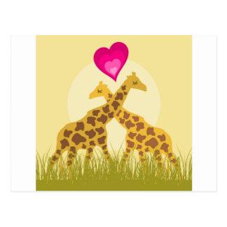 Love a giraffe postcard