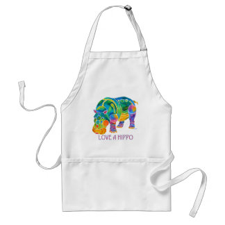 Love A HIPPO Adult Apron