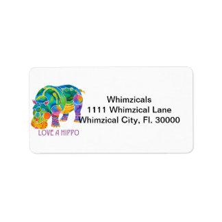 Love A HIPPO Label