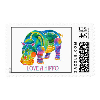 Love A HIPPO Stamp