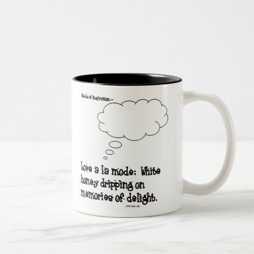Love a la mode mug with black inside