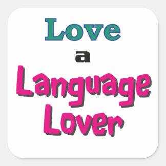 Love a Language Lover Square Sticker