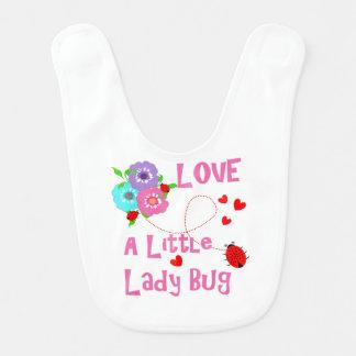 Love A Little Lady Bug Cute Kids Bib