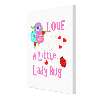 Love A Little Lady Bug Cute Kids Canvas Print