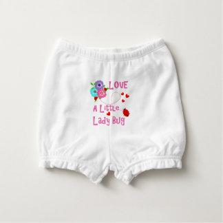Love A Little Lady Bug Cute Kids Diaper Cover