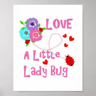 Love A Little Lady Bug Cute Kids Poster