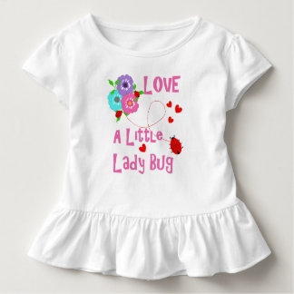 Love A Little Lady Bug Cute Kids Toddler T-shirt