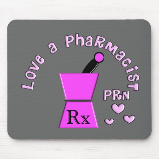 Love a Pharmacist PRN Pestle and Mortar Design Mousepads