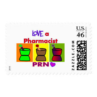 Love a Pharmacist PRN T-Shirts Gifts Stamps