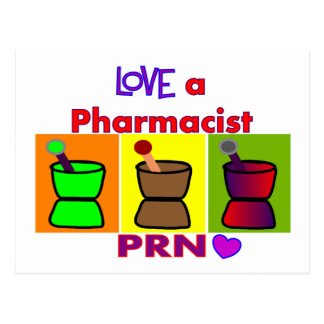 Love a Pharmacist PRN T-Shirts & Gifts Postcard