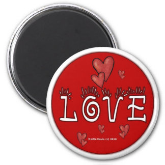 Love - A Positive Word 2 Inch Round Magnet