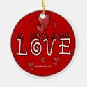 Love - A Positive Word Ceramic Ornament
