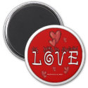 Love - A Positive Word Magnet