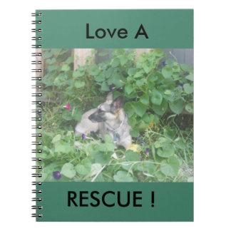 """""""Love A Rescue"""" German Shepherd Journal"""