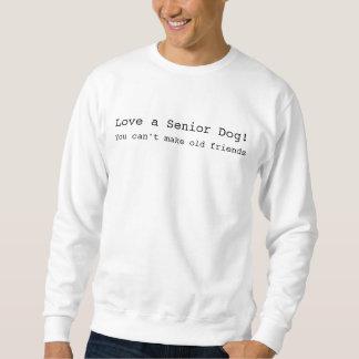 Love a Senior Dog Men's White Sweatshirt