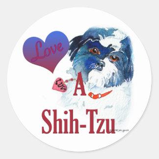Love a Shih Tzu Classic Round Sticker