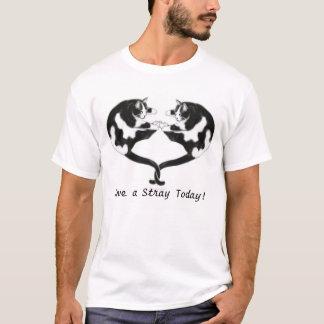 Love a Stray Cat Heart Shirt
