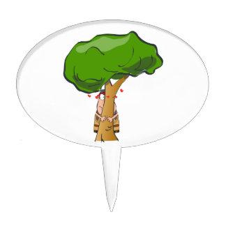 Love a Tree Day - Tree Hugger Cake Pick