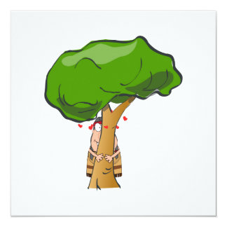 Love a Tree Day - Tree Hugger 5.25x5.25 Square Paper Invitation Card