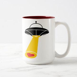Love Abduction Two-Tone Coffee Mug