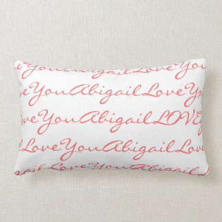 Love Abigail Personalized Name Pillow for Girls