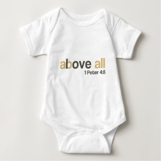 Love above all baby bodysuit