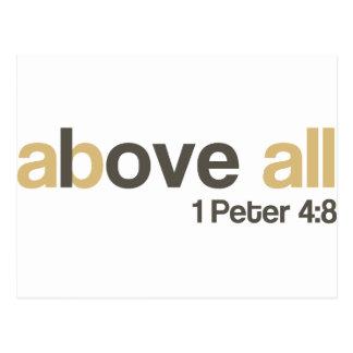 Love above all postcard