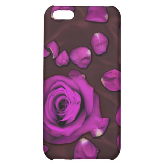 Love Absolute - Magenta Rose and Petals Case For iPhone 5C