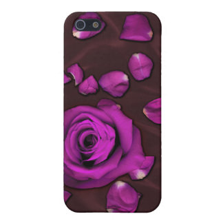 Love Absolute - Magenta Rose and Petals Cases For iPhone 5
